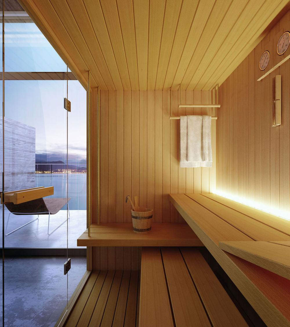 Rope Finnish Sauna Saunas Glass 1989