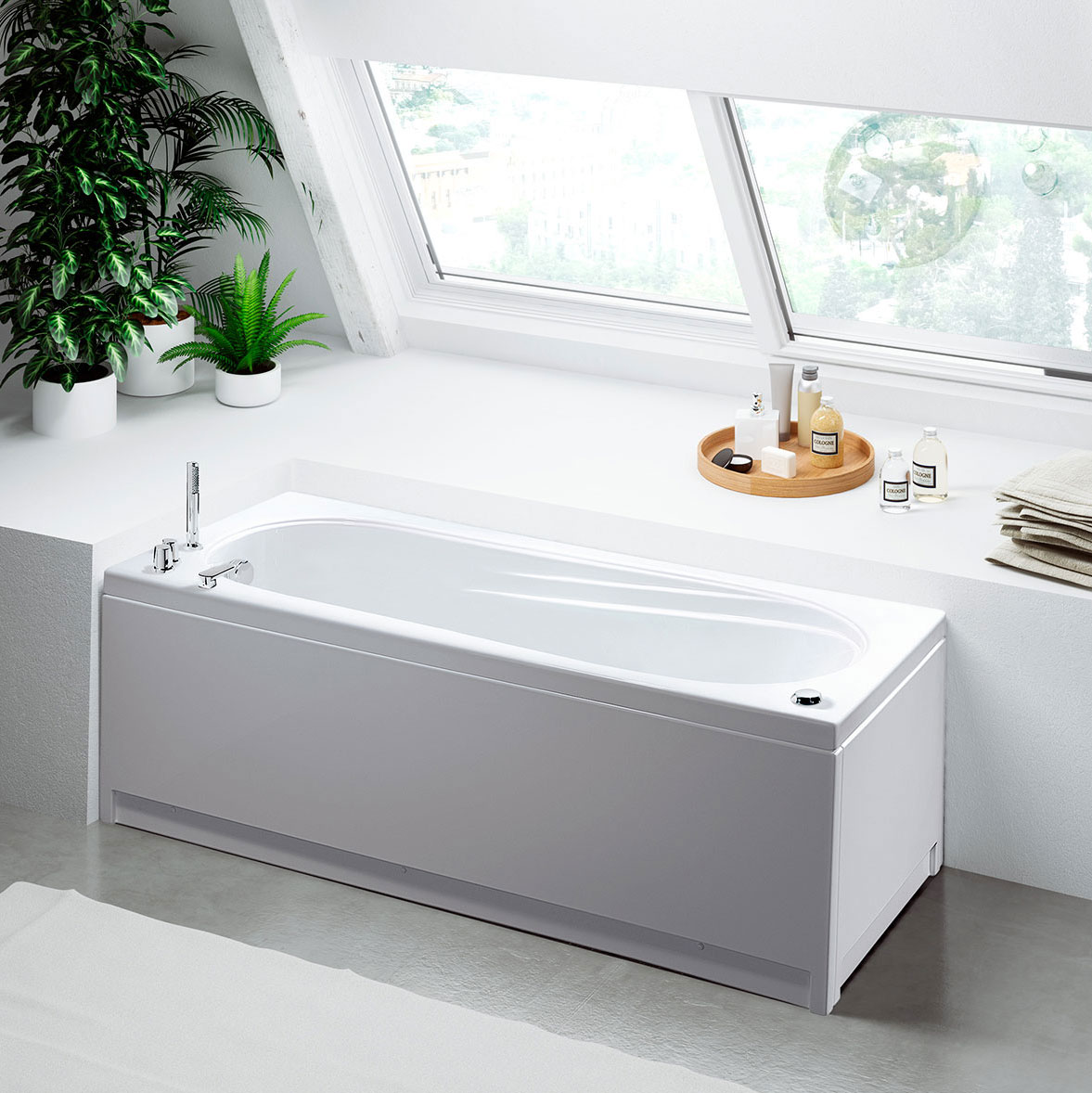 Astor Rectangular Bathtubs Bathtubs GLASS 1989