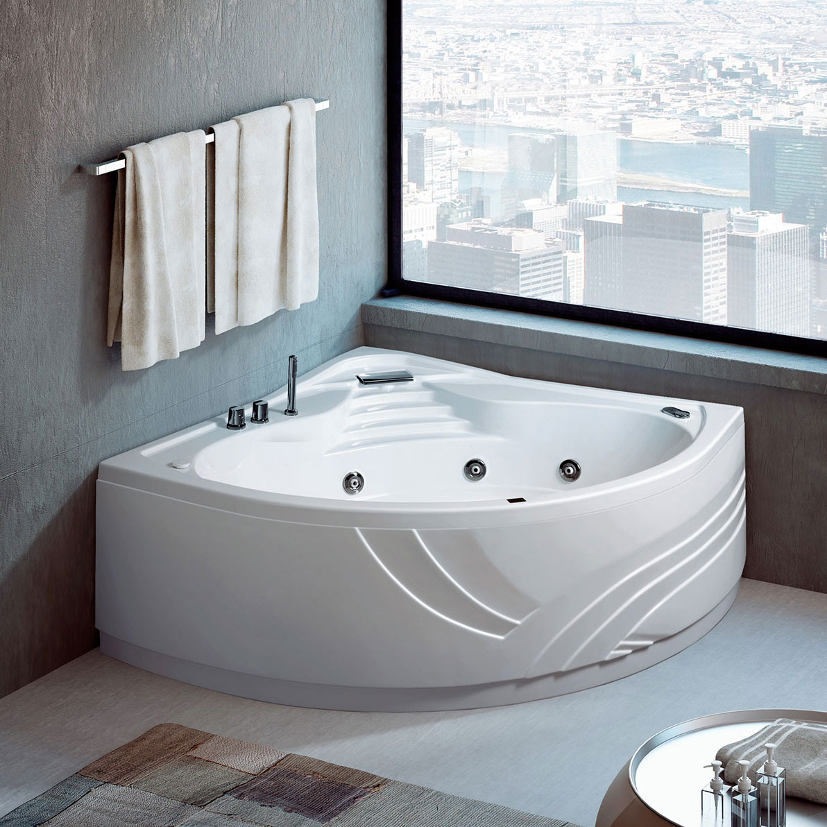 Capri corner and asymmetric bathtub - Bathtubs GLASS 1989