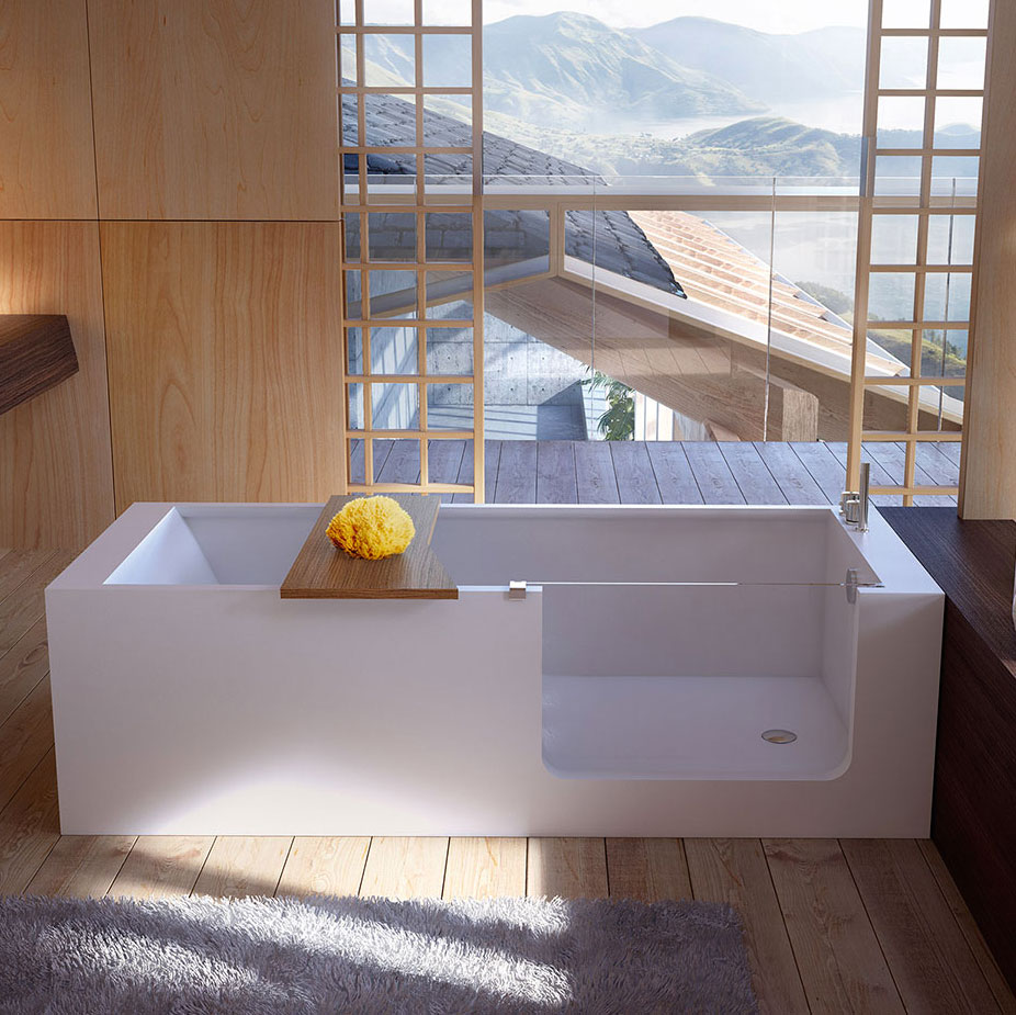 Elle bath bathtub in hardlite with assisted entry bathtubs glass 1989 - Vasche da bagno economiche ...