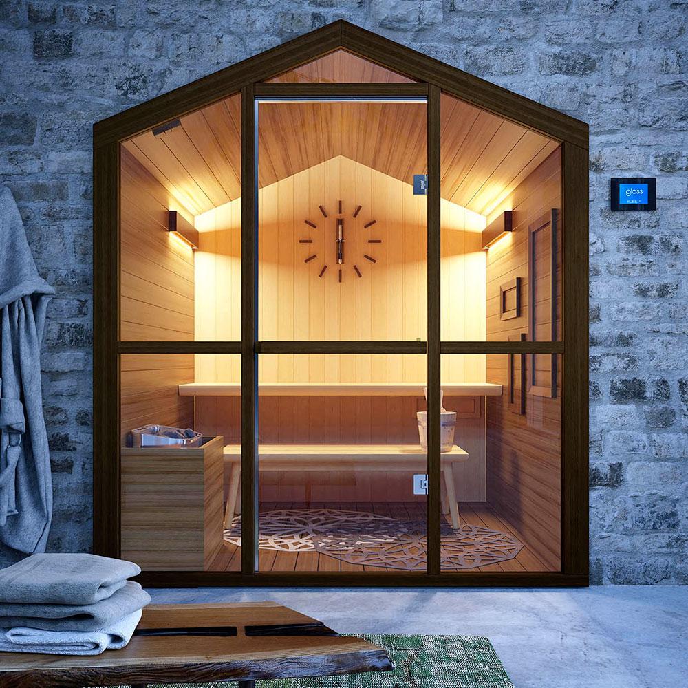 hsh sauna finnish sauna saunas glass 1989. Black Bedroom Furniture Sets. Home Design Ideas