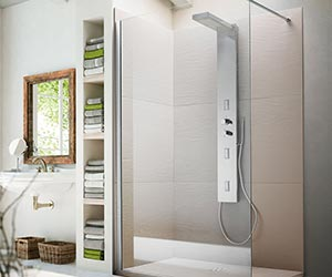 Shower Trays and Wall Panels - razor wall