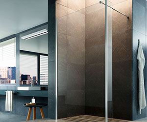 step-in fe Glass1989  shower enclosures