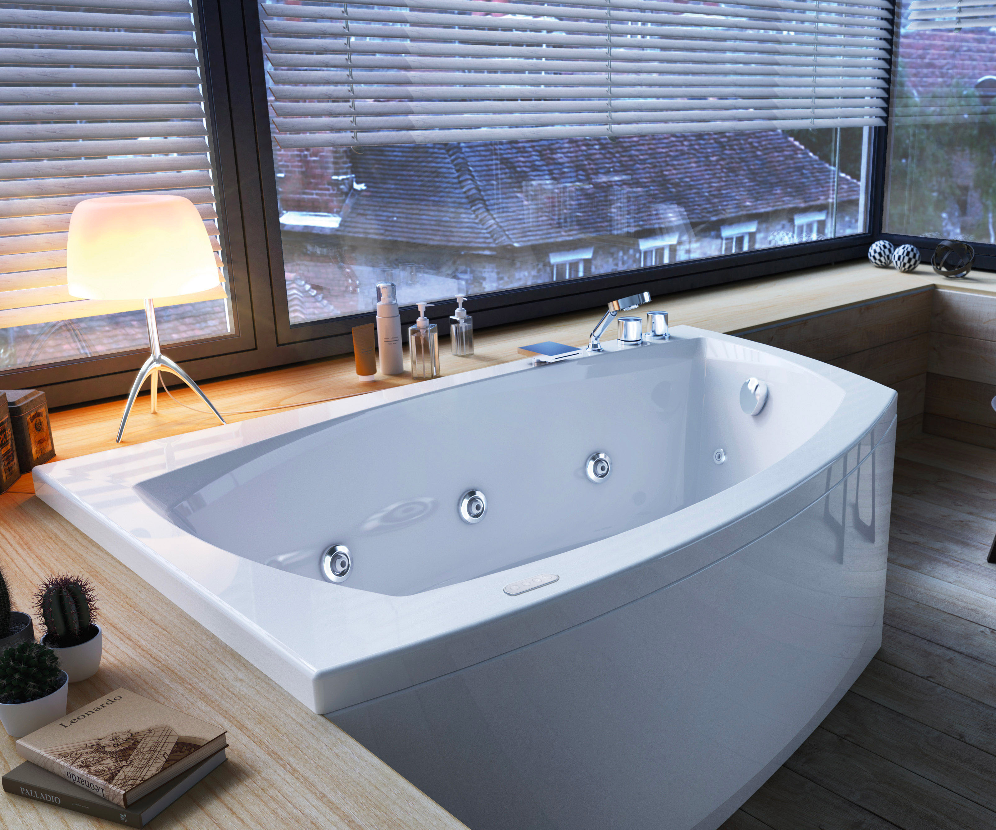 Linea rectangular, corner and asymmetric bathtubs collection ...